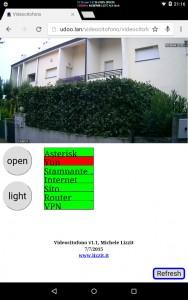 Unità interna - screenshot del tablet