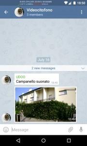 Il messaggio di notifica che viene inviato sul cellulare.